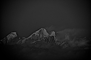 Everest as seen from Darjeeling