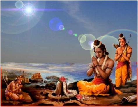 vishnu worships siva hanuman worships Ram